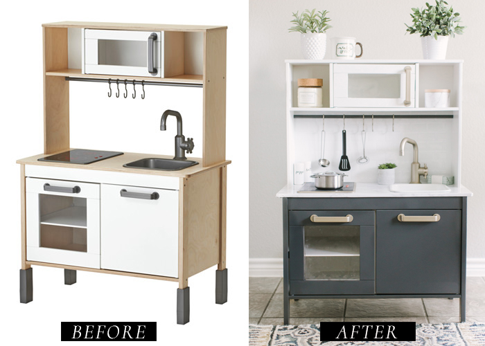 ikea play kitchen diy makeover katie lamb blog. Black Bedroom Furniture Sets. Home Design Ideas