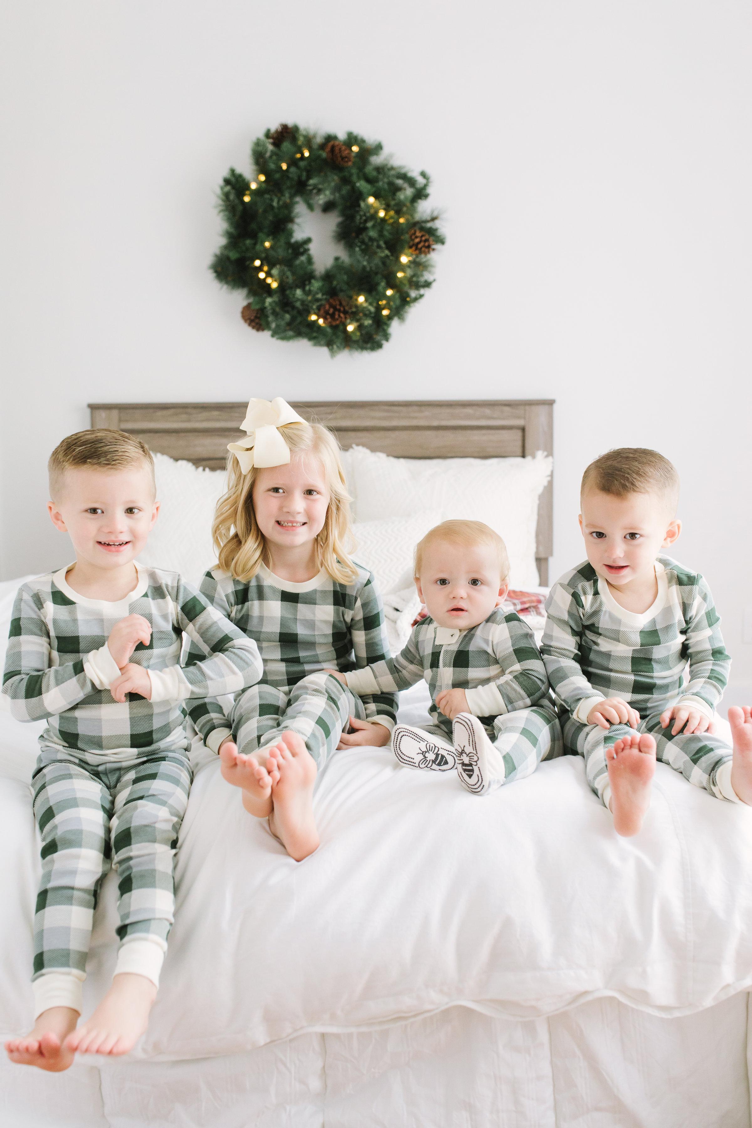 Family Christmas Pajamas With Baby.Christmas Family Jammies
