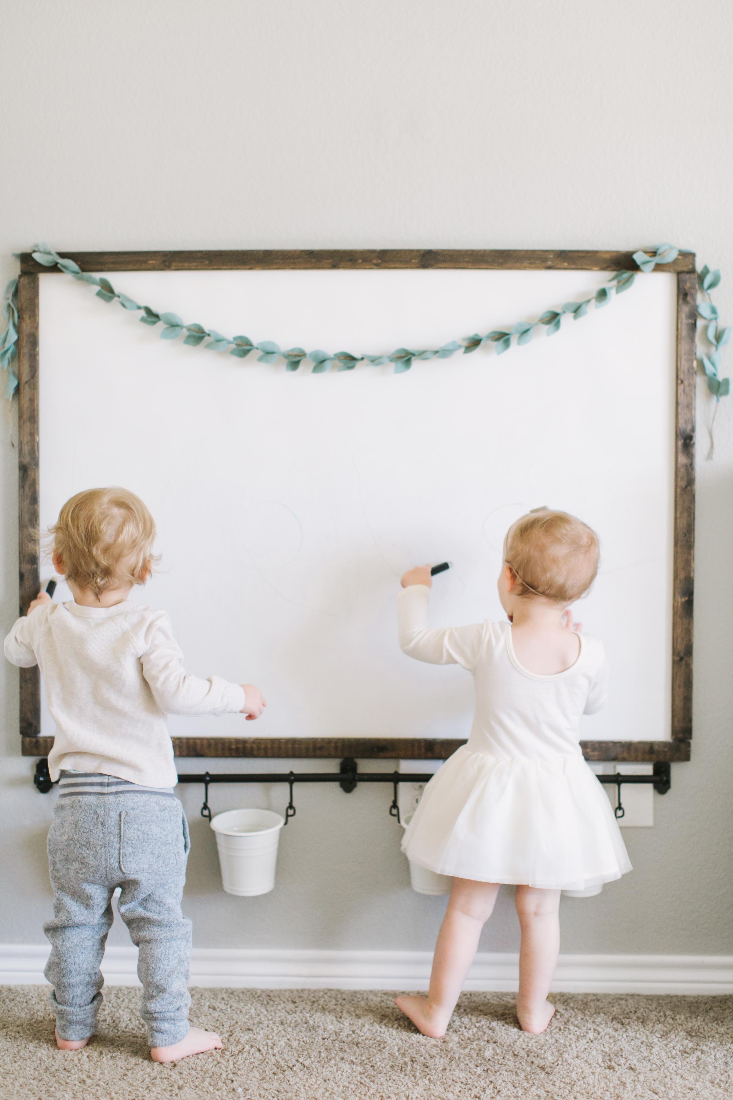DIY Magnetic Chalkboard - Katie Lamb Blog