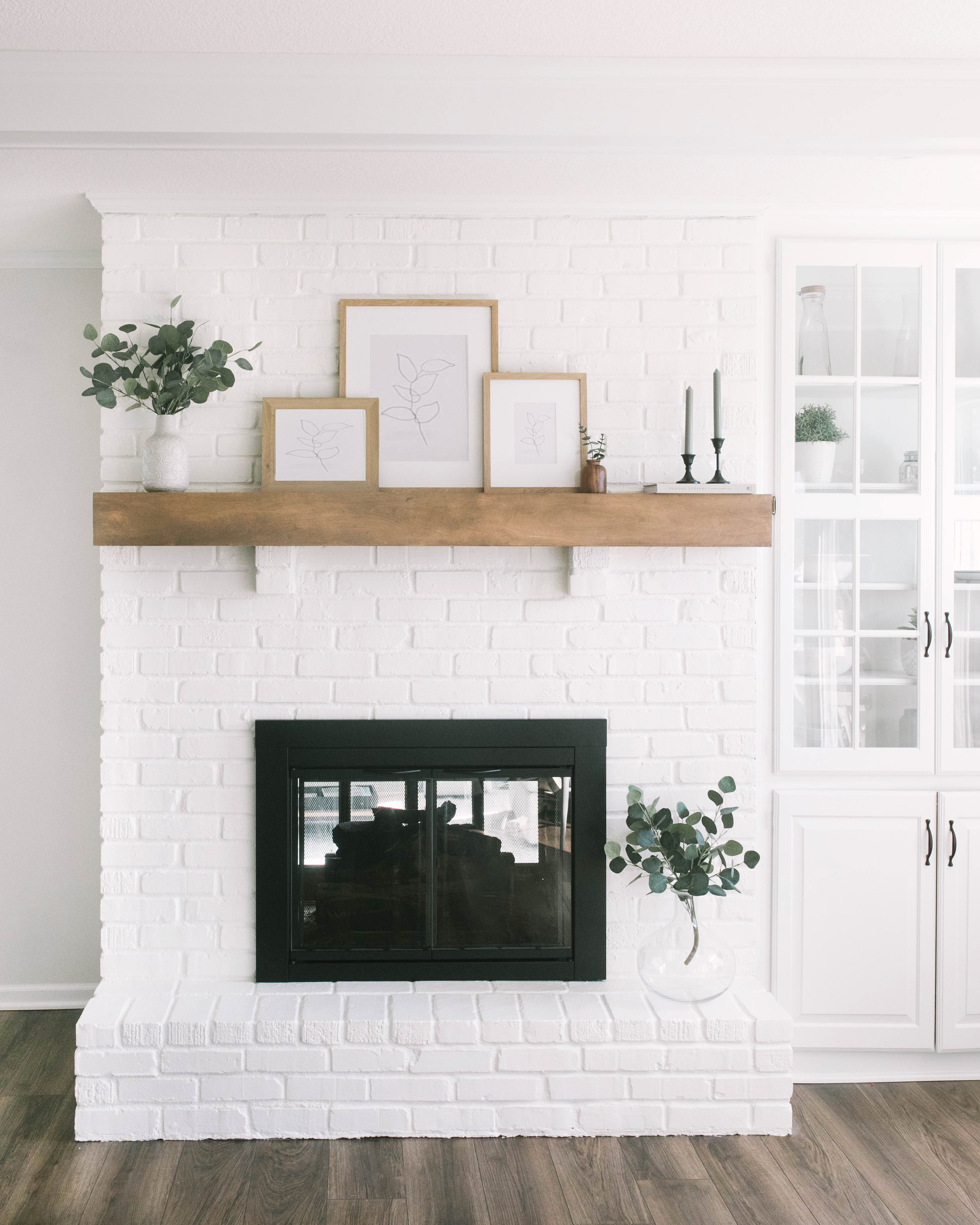 How To Paint Your Brick Fireplace Katie Lamb